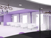 Furniture interior violet space Stock Photo