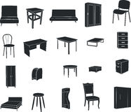 Furniture isolated on a white background Stock Photography