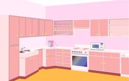 Furniture on kitchen by set modern Stock Photo