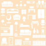 Furniture and the lighting equipment. For the house Royalty Free Stock Photography