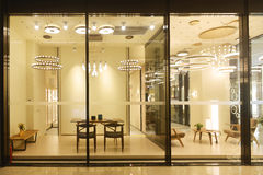 Furniture lighting  shop Stock Photo