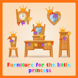 Furniture for the little Princess and her family Stock Photos