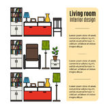 Furniture for living room infographic Stock Image