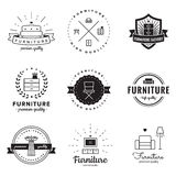Furniture logo vintage vector set. Hipster and retro style. Perfect for your design. Royalty Free Stock Photos
