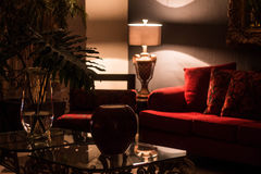Furniture in low light. Contrast stock image