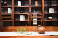 The study of the modern Chinese family. Furniture made of mahogany has been loved by the Chinese since ancient times. With the development of time, Chinese stock photography