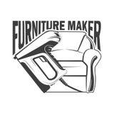 Furniture maker logotype royalty free illustration