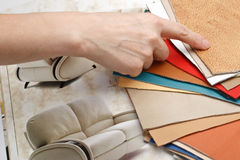 Furniture materials stock photos