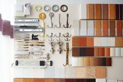 Furniture mebel fittings recessed fixtures hooks Stock Photography
