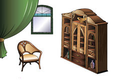 Furniture of Modern Art style Royalty Free Stock Photography