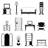 Furniture objects Royalty Free Stock Images