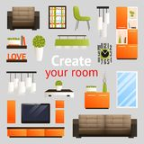Furniture Objects Set Royalty Free Stock Images