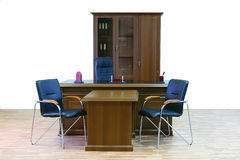 Furniture office. Modern wood furniture office of the chief royalty free stock images