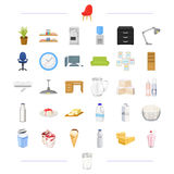 Furniture, office, electrical and other web icon in black style Stock Photos