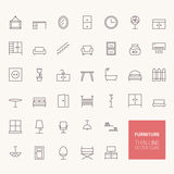 Furniture Outline Icons Royalty Free Stock Photography