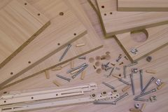 Furniture assembly stock photography