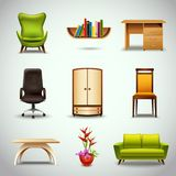 Furniture Realistic Icons Stock Photo