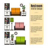 Furniture for restroom infographic Royalty Free Stock Photo