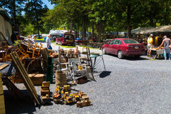 Furniture for sale at Shupps Grove. Reamstown, PA - August 7, 2016: Antiques and other collectables offered for sale weekly by dealers at Shupp's Grove Royalty Free Stock Photography