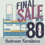 Furniture  Sale Up to 80 Percent. Royalty Free Stock Photography