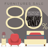 Furniture Sale Up to 80 Percent. Stock Image