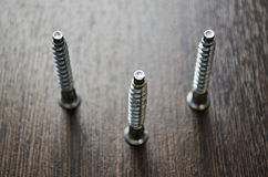 Furniture screws Royalty Free Stock Images