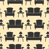 Furniture seamless pattern Royalty Free Stock Photo
