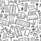 Furniture Seamless Pattern Stock Photos