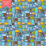 Furniture seamless pattern Stock Photography