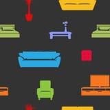 Furniture Seamless Pattern Royalty Free Stock Photos