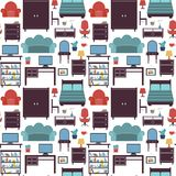 Furniture seamless pattern Royalty Free Stock Photos