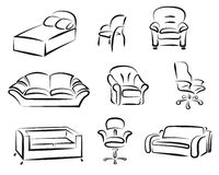 Furniture set Stock Photo
