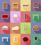 Furniture set flat icons vector illustration Stock Images