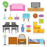 Furniture set Royalty Free Stock Image