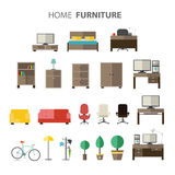 Furniture set for house. Royalty Free Stock Images