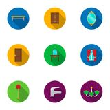 Furniture set icons in flat style. Big collection of furniture vector symbol stock illustration Royalty Free Stock Photography