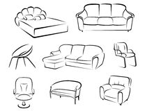 Furniture set Royalty Free Stock Photos