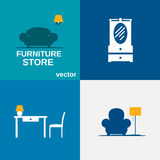 Furniture set. Royalty Free Stock Image