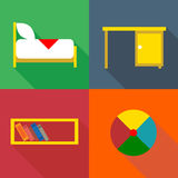 Furniture set, in outlines Royalty Free Stock Photography