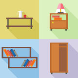 Furniture set, in outlines Royalty Free Stock Image