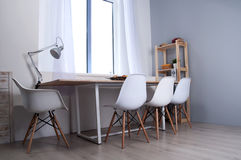 Furniture set with table and chairs Stock Photography