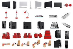 Furniture set for working Stock Photo