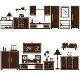 Furniture sets eps10 Stock Images