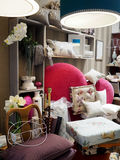 Furniture shop. Internal view of a furniture store in Rome Royalty Free Stock Photo