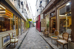 Furniture shops on Passage du Chantier in Paris Stock Photo