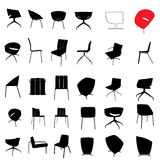 furniture silhouette set Royalty Free Stock Images