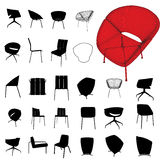 Furniture silhouette set Stock Photo