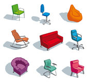 Furniture for sitting Stock Photo