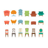 Furniture for Sitting. Chairs, Armchairs, Stools Royalty Free Stock Image