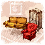 Furniture Sketch Illustration Stock Photo